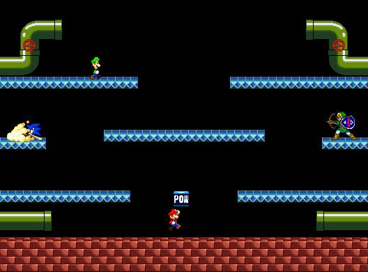 SSBB Battle Mario Stage